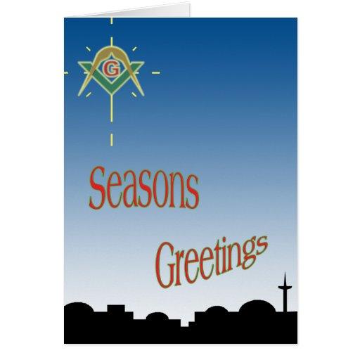Masonic Seasons Greetings Cards   Zazzle