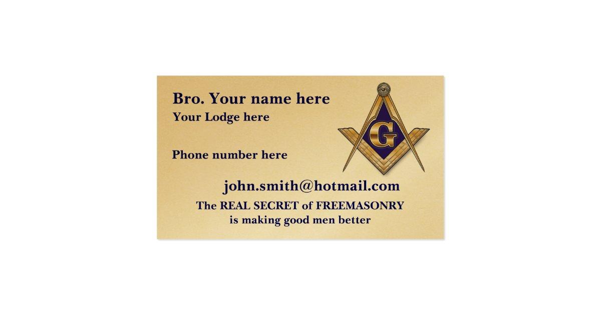 MASONIC SHRINERS EMBLEM BUSINESS CARD