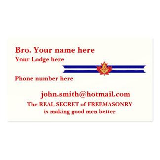 MASONIC / SHRINERS EMBLEM BUSINESS CARD