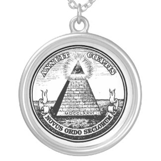 masonic silver plated necklace