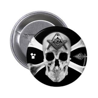 Masonic Skull & Bones, Square and Compass, Trowel, Pin