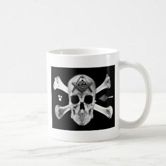 Masonic Skull & Bones, Square and Compass, Trowel, Coffee Mug
