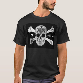 Masonic Skull & Bones, Square and Compass, Trowel, T-Shirt