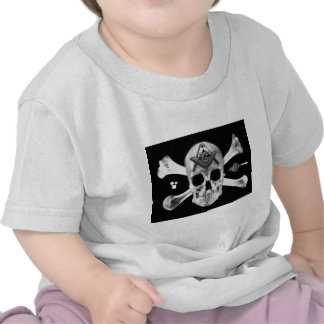 Masonic Skull & Bones, Square and Compass, Trowel, Tee Shirt