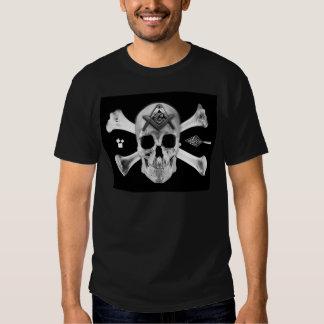 Masonic Skull & Bones, Square and Compass, Trowel, Tshirts