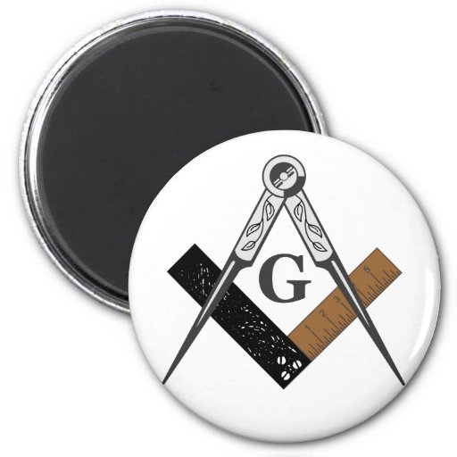 Masonic Square and Compass 2 Inch Round Magnet