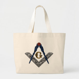 Masonic Square and Compass Canvas Bag