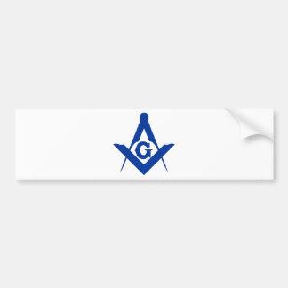 Masonic Square and Compass Car Bumper Sticker