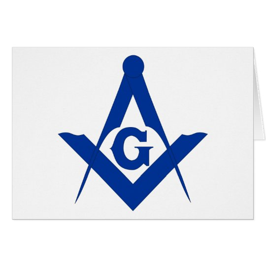 Masonic Square and Compass Card