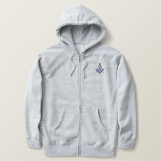 Masonic Square and Compass Embroidered Hoodie