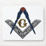 Masonic Square and Compass Mouse Pad