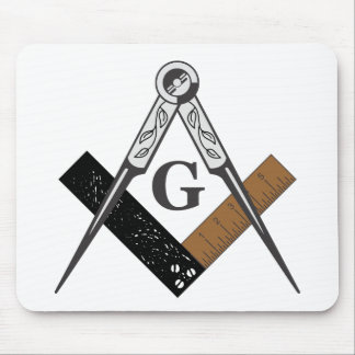 Masonic Square and Compass Mousepads