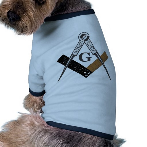 Masonic Square and Compass Pet Tee Shirt