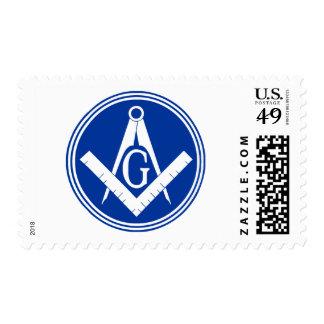 Masonic Square and Compass Stamp