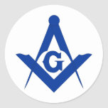 Masonic Square and Compass Stickers