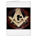 Masonic Square and Compass working tools Greeting Card