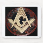Masonic Square and Compass working tools Mouse Pad