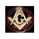 Masonic Square and Compass working tools Postcards