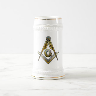 Masonic Square and Compasses Beer Stein