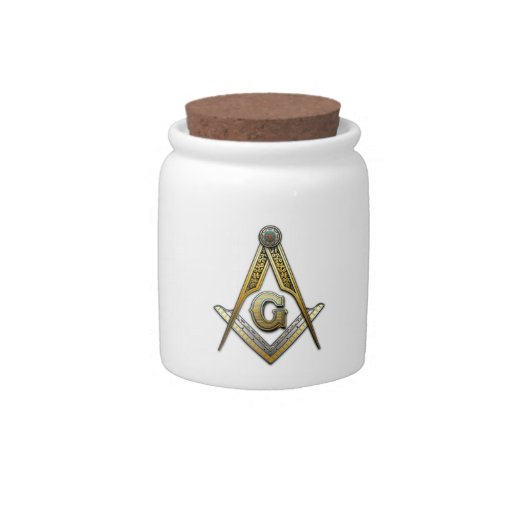 Masonic Square and Compasses Candy Jar