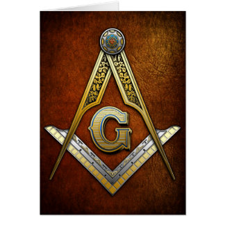 Masonic Square and Compasses Greeting Cards