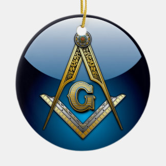 Masonic Square and Compasses Ceramic Ornament