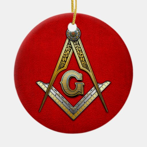 Masonic Square and Compasses Christmas Ornament