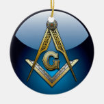 Masonic Square and Compasses Christmas Ornaments