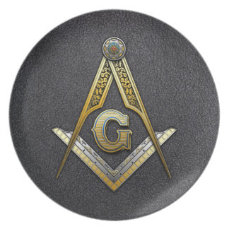 Masonic Square and Compasses Dinner Plate