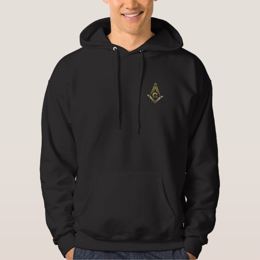 Masonic Square and Compasses Hooded Pullover