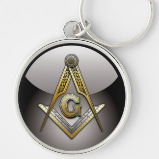 Masonic Square and Compasses Keychain