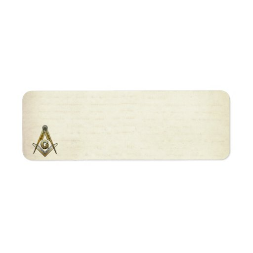 Masonic Square and Compasses Labels
