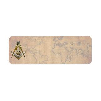 Masonic Square and Compasses Return Address Labels