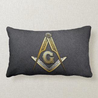 Masonic Square and Compasses Lumbar Pillow