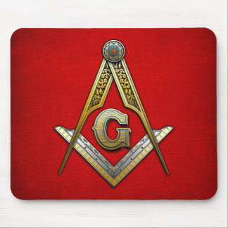 Masonic Square and Compasses Mouse Pads