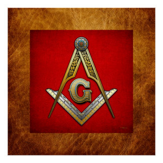 Masonic Square and Compasses Poster