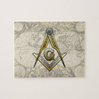 Masonic Square and Compasses Puzzle