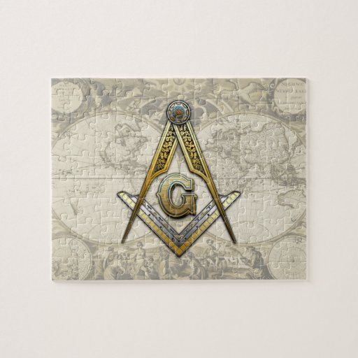 Masonic Square and Compasses Puzzles