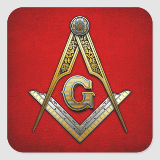 Masonic Square and Compasses Stickers