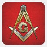 Masonic Square and Compasses Stickers