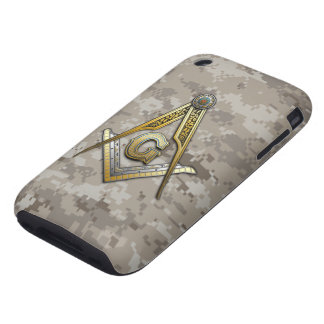 Masonic Square and Compasses Tough iPhone 3 Cover