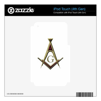 Masonic Square & Compass iPod Touch 4G Decals