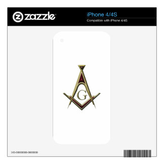 Masonic Square & Compass Skin For iPhone 4