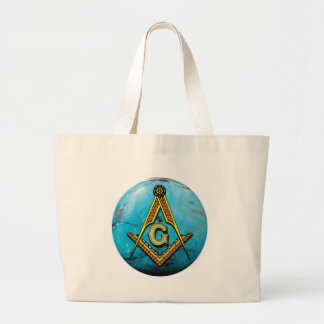 Masonic Square & Compass Turquoise Tote Bags