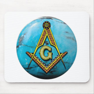 Masonic Square & Compass Turquoise Mouse Pads