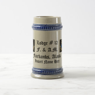 Masonic Stein 18 Oz Beer Stein