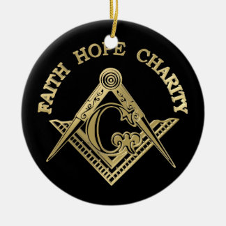 Masonic symbol ceramic ornament