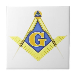 Masonic symbol ceramic tile