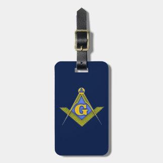 Masonic symbol luggage tag