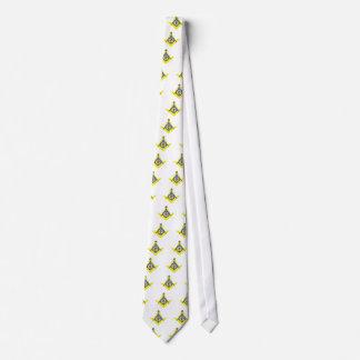Masonic symbol neck tie
